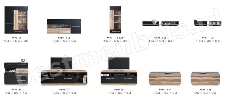 tv-kast hout zwart