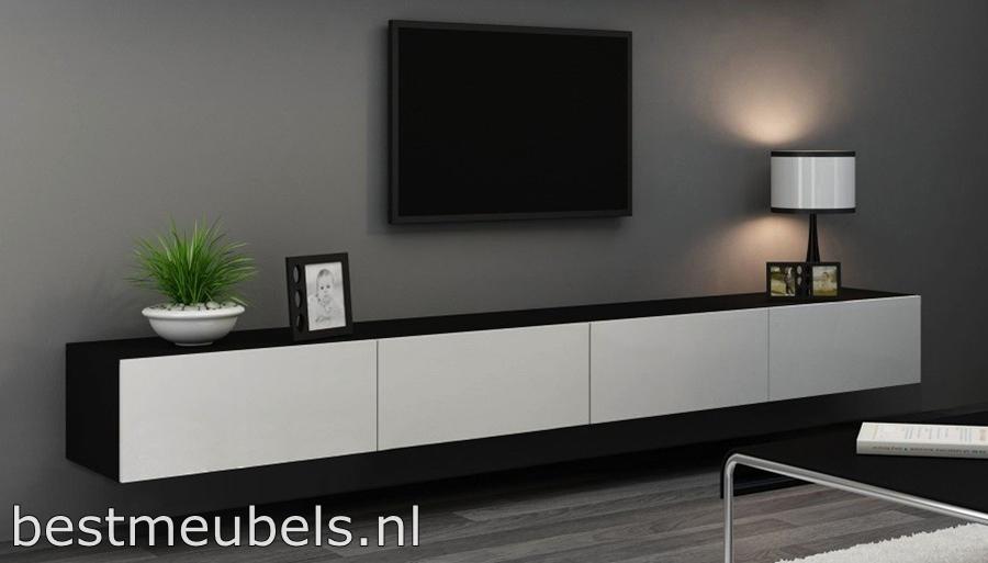 Zwevende Wandkast Ikea.Verdi 11 280cm Zwevend Tv Meubel Tv Kast Hoogglans Verdi Tv